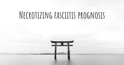 Necrotizing fasciitis prognosis