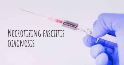 Necrotizing fasciitis diagnosis