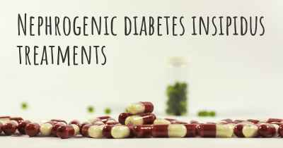 Nephrogenic diabetes insipidus treatments