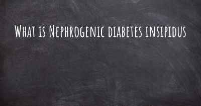 What is Nephrogenic diabetes insipidus
