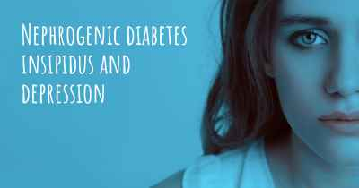 Nephrogenic diabetes insipidus and depression