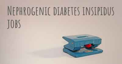 Nephrogenic diabetes insipidus jobs