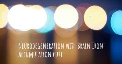 Neurodegeneration with Brain Iron Accumulation cure