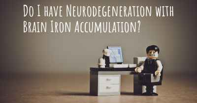 Do I have Neurodegeneration with Brain Iron Accumulation?