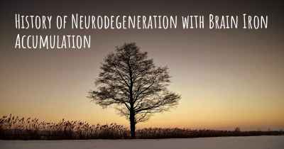 History of Neurodegeneration with Brain Iron Accumulation