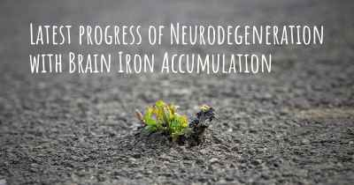 Latest progress of Neurodegeneration with Brain Iron Accumulation