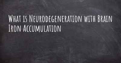 What is Neurodegeneration with Brain Iron Accumulation