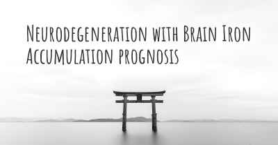 Neurodegeneration with Brain Iron Accumulation prognosis