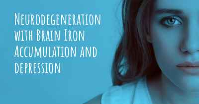 Neurodegeneration with Brain Iron Accumulation and depression