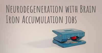 Neurodegeneration with Brain Iron Accumulation jobs