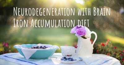 Neurodegeneration with Brain Iron Accumulation diet