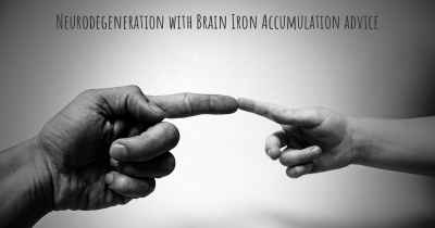 Neurodegeneration with Brain Iron Accumulation advice