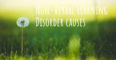 Non-Verbal Learning Disorder causes