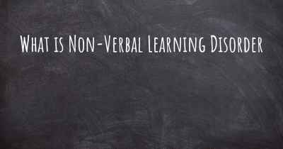 What is Non-Verbal Learning Disorder