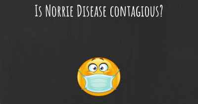 Is Norrie Disease contagious?