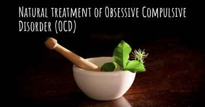 Natural treatment of Obsessive Compulsive Disorder (OCD)