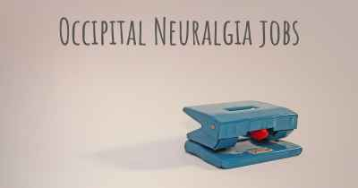 Occipital Neuralgia jobs