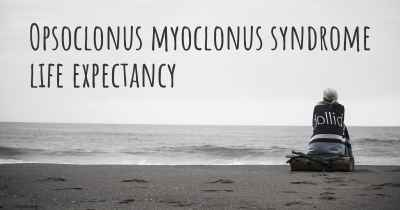 Opsoclonus myoclonus syndrome life expectancy