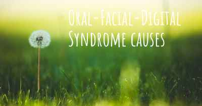 Oral-Facial-Digital Syndrome causes