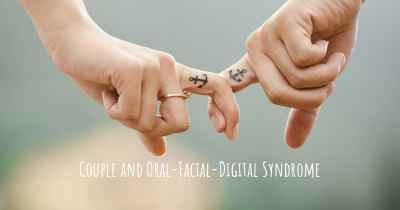 Couple and Oral-Facial-Digital Syndrome