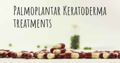 Palmoplantar Keratoderma treatments