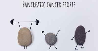 Pancreatic cancer sports