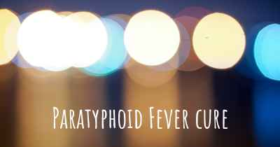Paratyphoid Fever cure