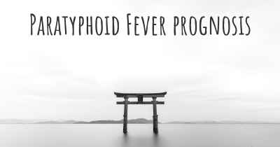 Paratyphoid Fever prognosis