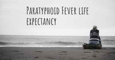 Paratyphoid Fever life expectancy