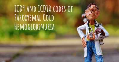 ICD9 and ICD10 codes of Paroxysmal Cold Hemoglobinuria
