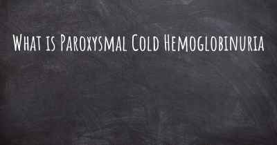 What is Paroxysmal Cold Hemoglobinuria