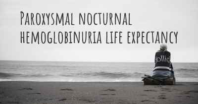 Paroxysmal nocturnal hemoglobinuria life expectancy