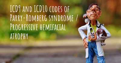 ICD9 and ICD10 codes of Parry-Romberg syndrome / Progressive hemifacial atrophy