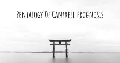 Pentalogy Of Cantrell prognosis