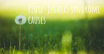 Peutz-Jeghers syndrome causes