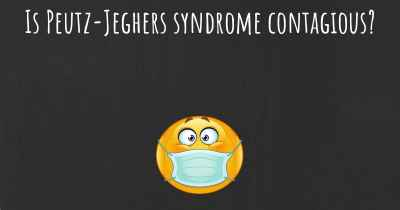 Is Peutz-Jeghers syndrome contagious?