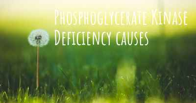 Phosphoglycerate Kinase Deficiency causes