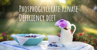Phosphoglycerate Kinase Deficiency diet