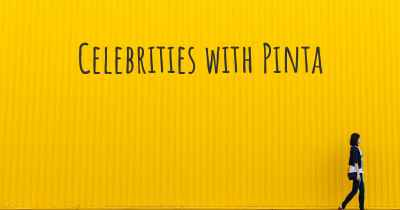 Celebrities with Pinta
