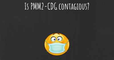 Is PMM2-CDG contagious?