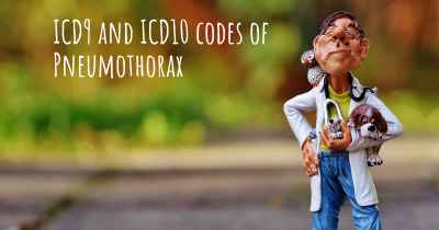 ICD9 and ICD10 codes of Pneumothorax