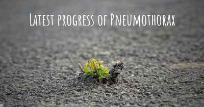 Latest progress of Pneumothorax