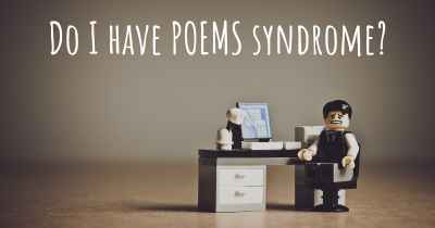 Do I have POEMS syndrome?