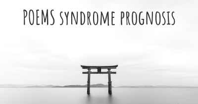 POEMS syndrome prognosis