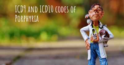 ICD9 and ICD10 codes of Porphyria