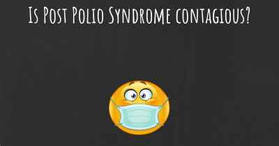 Is Post Polio Syndrome contagious?