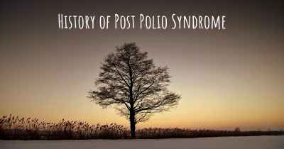 History of Post Polio Syndrome