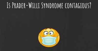 Is Prader-Willi Syndrome contagious?