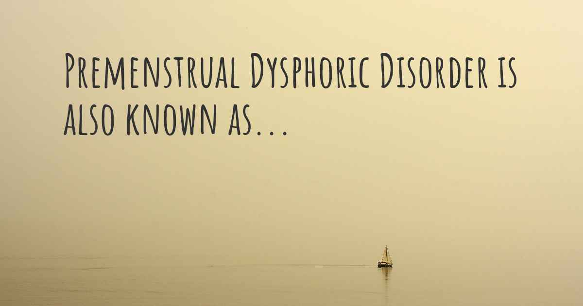 the truth behind pre menstrual dysphoric disorder