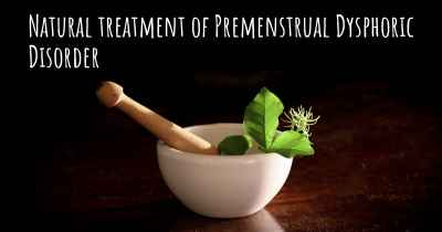 Natural treatment of Premenstrual Dysphoric Disorder